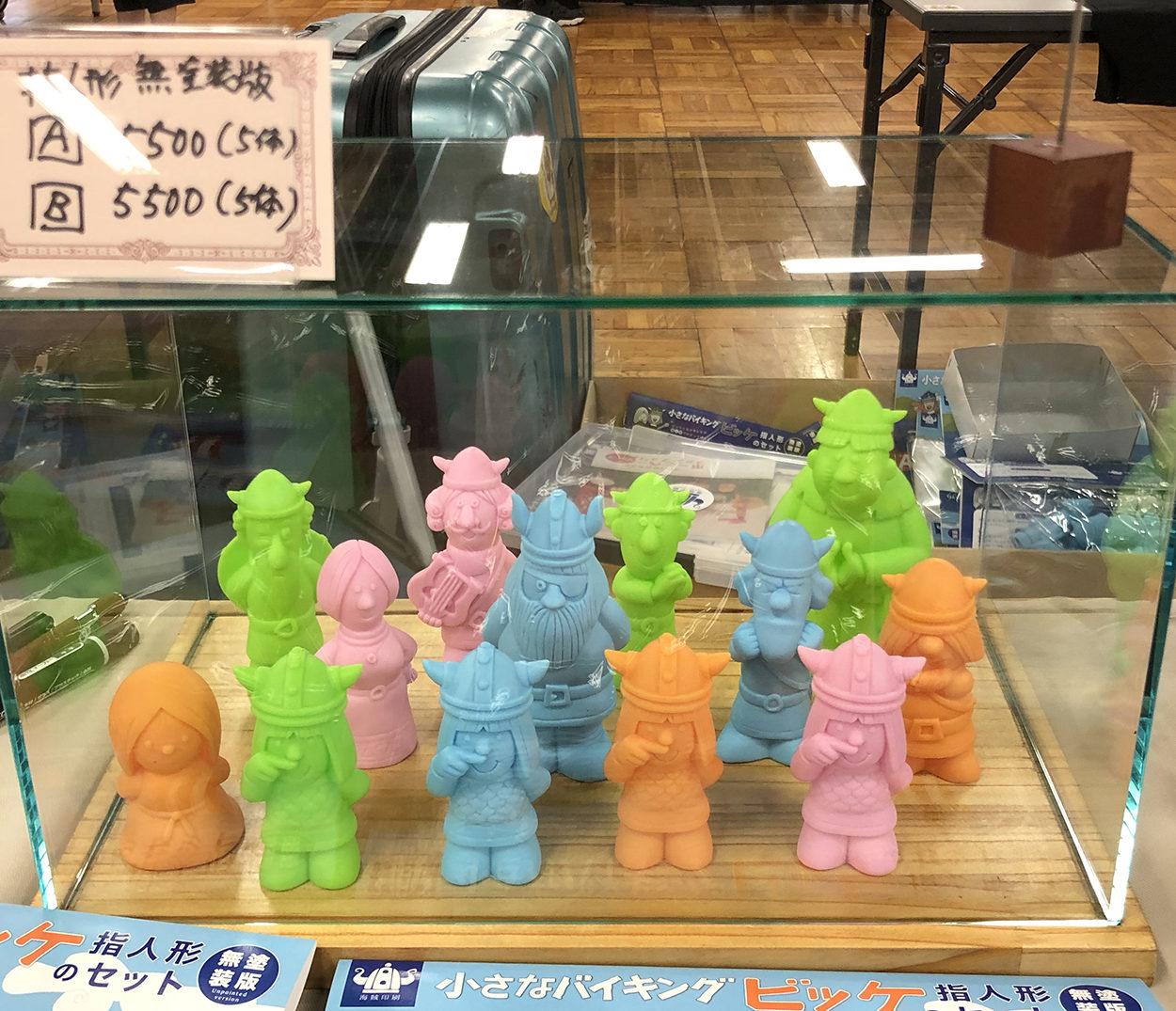アメジング商店街で指人形(無塗装版)大好評でした
